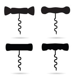 corkscrew black vector image