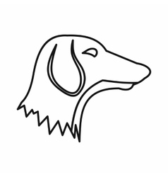 Dachshund dog icon outline style vector