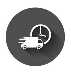 Delivery truck 24h 24 hours fast delivery vector