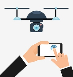 Drone technology design vector