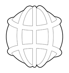 Earth icon outline style vector image