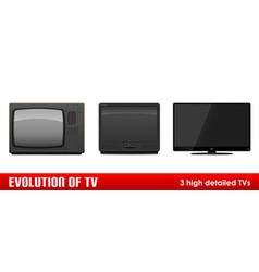 evolution of tv vector image vector image