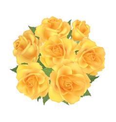 Flower bouquet floral frame flourish greeting vector