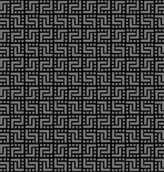 Geometric black seamless pattern vector image
