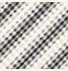 halftone seamless pattern diagonal lines vector image vector image
