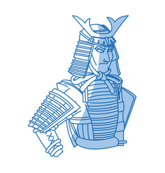Japanese samurai cartoon hero warrior clothes vector