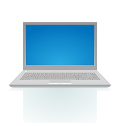 Laptop with blue screen vector image vector image