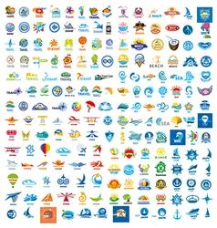 large set of logos trip vector image