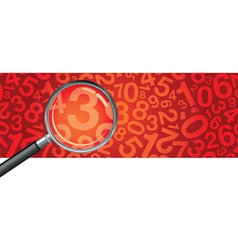 Magnifying glass numbers vector