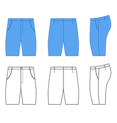 Man outlined template of skinny briefs vector