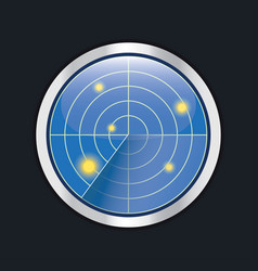 radar screen hud interface element vector image