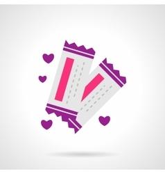 Romantic trip bright flat icon vector image vector image