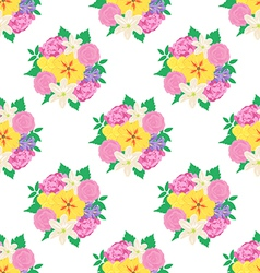 Seamless hand drawn flower pattern vector image vector image