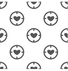 seamless heart pattern love symbol from icon vector image