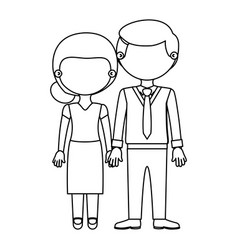 Sketch silhouette faceless couple woman with skirt vector
