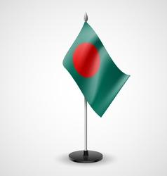 Table flag of bangladesh vector