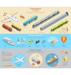 Transport infographic transportation vector