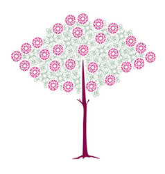 tree flourishes 2 vector image