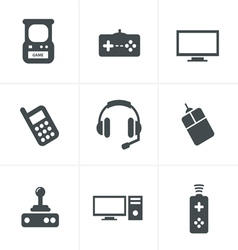 Video Games Icon Set vector image vector image