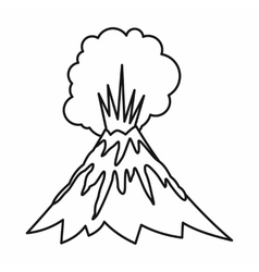 Volcano erupting icon outline style vector image vector image