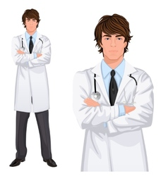 Young man doctor vector