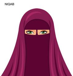 - arab niqab muslim woman - vector