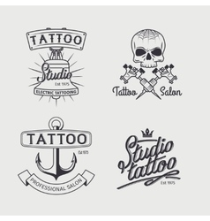Tattoo studio logo templates vector