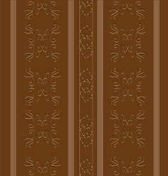 Elegant brown with stripes vector