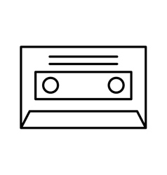 cassette music old fashion vector image