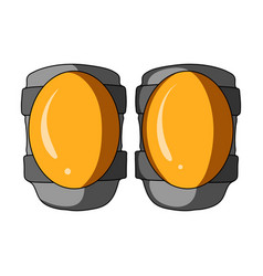 Protective knee pads for cyclists protection for vector