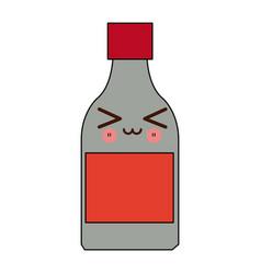 Kawaii medicine bottle icon health vector