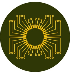 Circuit board element vector image