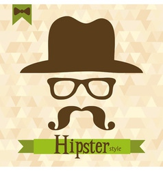 Hipster greeting card vector