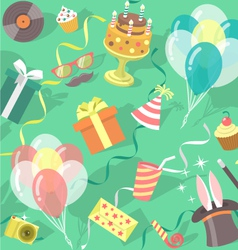 Birthday Party Celebration Seamless Pattern vector image