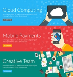 Flat design concept for cloud computing mobile vector