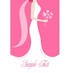 Bride with a wedding bouquet vector