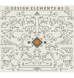 Vintage ornaments decorations design elements 2 vector