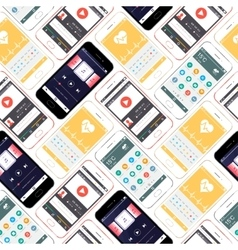 Seamless pattern smartphones interface vector