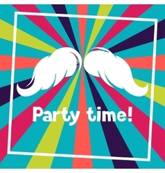 Party time background with hand draw hipster vector