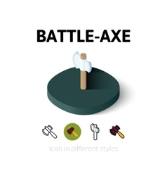 Battle-axe icon in different style vector