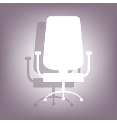 Office chair icon with shadow vector