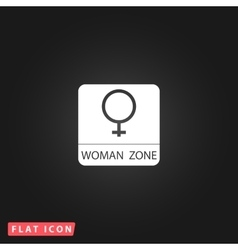 Female flat icon vector