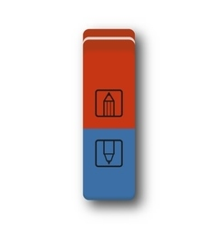 Eraser red and blue vector
