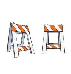 Cartoon road barriers vector