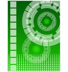 Green technology background vector