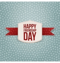 Friendship day holiday paper badge vector