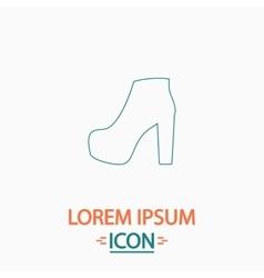 Boot computer symbol vector