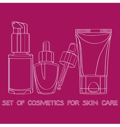 Anti-aging products for skin care vector