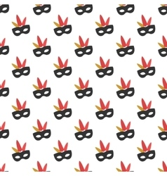 Carnival mask pattern seamless vector
