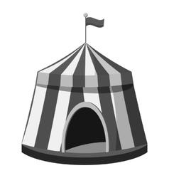 Circus tent icon gray monochrome style vector